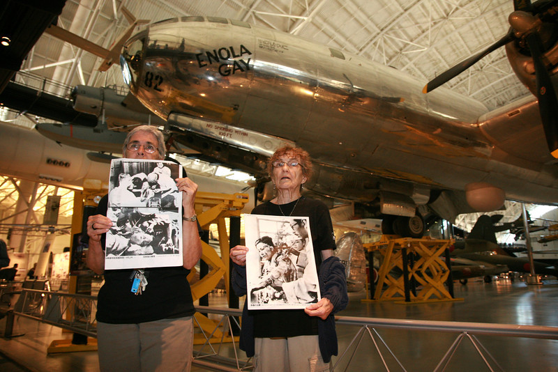 Silent Prayer Vigil in front of The Enola Gay
