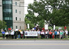 Rally For The Sisters at the USCCB Headquarters D.C. : The bishops hid their sign in shame May 8, 2012